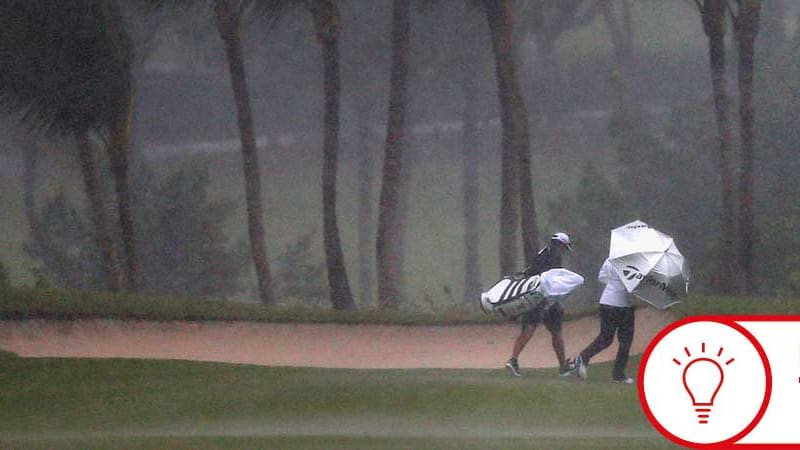 Golf im Regen macht nicht jedem Spaß, doch mit einigen Tipps fällt es leichter. (Foto: Getty)