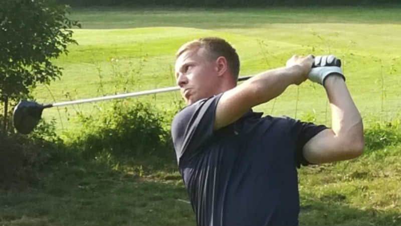 Birk Bergdahl unterwegs im Bochumer Golf Club. (Foto: Birk Bergdahl)