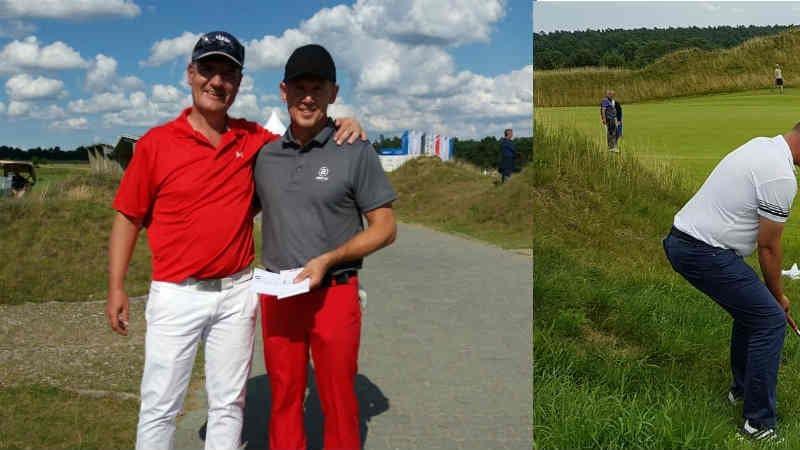 Frank Neumann (l.) mit Magnus Atlevi bei der Winstongolf Senior Open. (Foto: Frank Neumann)