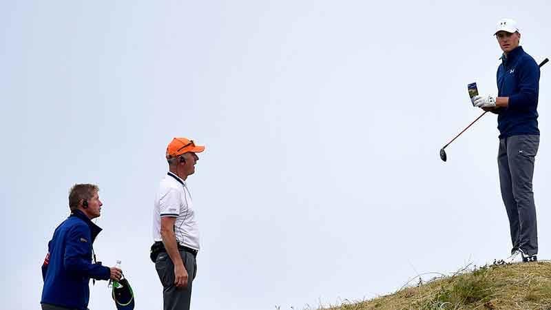 Jordan Spieth auf Abwegen. Im Finale der British Open brauchte er einen lauten Knall, um den Sieg zu sichern. (Foto: Getty)