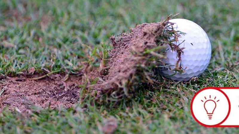 Fast jeder Golfer schlägt ein Divot. Doch was sagen diese über unseren Golfschwung? (Foto: Getty)