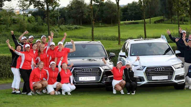 Die Mannschaften aus St. Leon-Rot (li.) und Hubbelrath konnten ihre Titel beim Final Four verteidigen. (Foto: DGV)