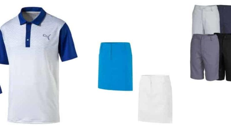 Polos, Shorts und Röcke - Golfbekleidung für die letzten warmen Tage jetzt im Angebot bei unseren Partnern sichern. (Foto: Puma/Alberto/Nike)