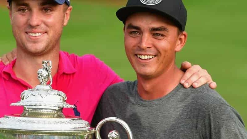 Erneut war Rickie Fowler nur Zuschauer, als einer seiner besten Freunde auf der Tour, Justin Thomas, seinen ersten Majorsieg bei der PGA Championship 2017 feierte. (Foto: Getty)