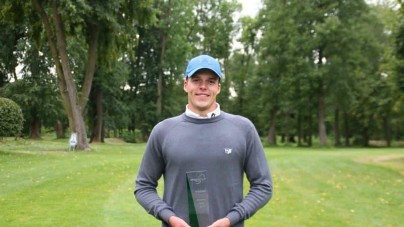 Nach drei Anläufen kann sich Finn Fleer mit dem Sieg auf der PRo Golf Tour einen Traum erfüllen. (Foto: PGA-Germany)