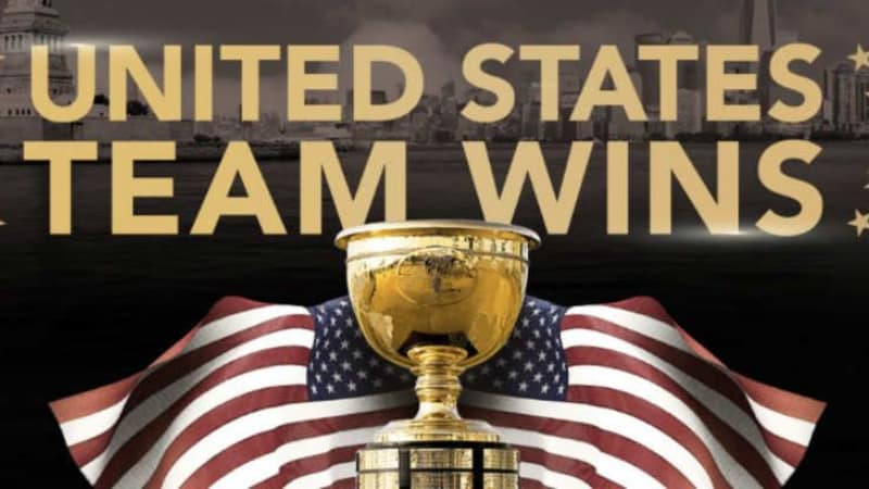 Team USA gewinnt den Presidents Cup 2017 im Liberty National GC. (Foto: twitter.com/PGATour)