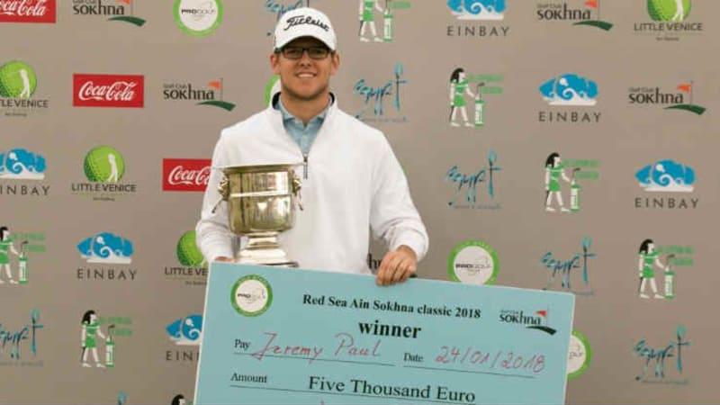 Jeremy Paul gewinnt erstes Profiturnier. (Foto: Pro Golf Tour)