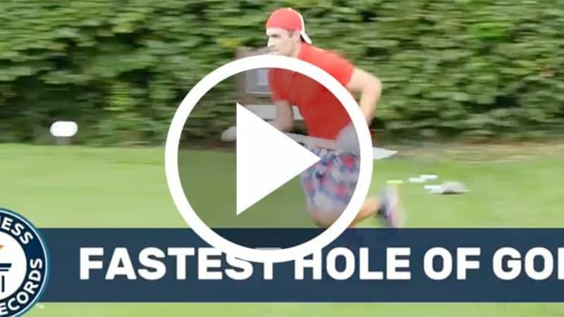 Es gibt einen neuen Weltrekord für das am schnellsten gespielteste Golfloch. (Foto: Screenshot)