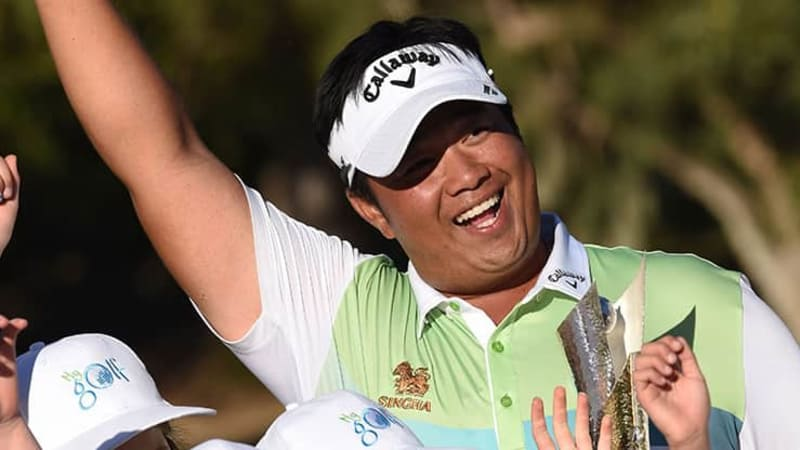 Blick ins Bag des World Super 6 Perth Siegers Kiradech Aphibarnrat. (Foto: Getty)