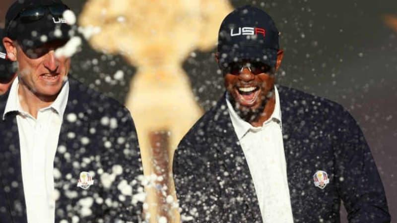 Tiger Woods und Steve Stricker wollen Team USA beim Ryder Cup 2018 als Vizekapitäne zum Sieg führen. (Foto: Getty)