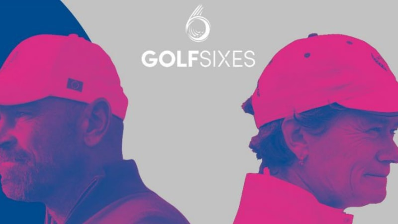 Thomas Bjørn und Catriona Matthew bilden beim GolfSixes das Captains-Team. (Foto: Twitter / LETgolf)