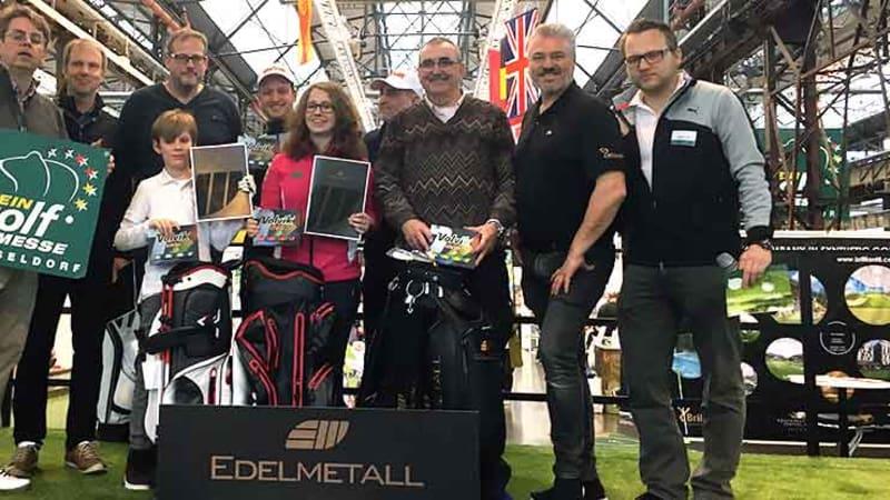 Die Finalteilnehmer der 1. Chip In Meisterschaft auf der Rheingolf Messe in Düsseldorf. (Foto: Golf Post)