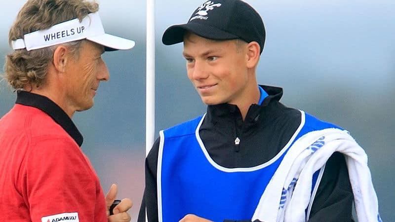 Bernhard Langer mit seinem Sohn Jason. (Foto: Getty)