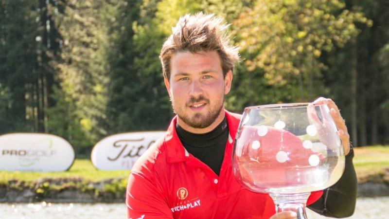 Mathieu Decottignies Lafon krönte auf der Pro Golf Tour unverhofft zum Sieger der Haugschlag NÖ Open 2018. (Foto: Pro Golf Tour)