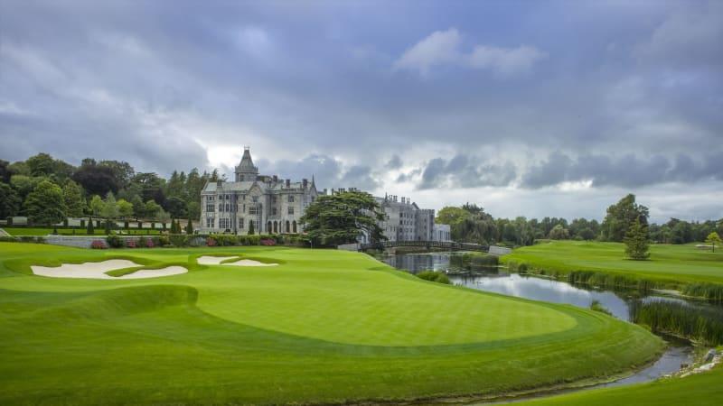Ein Blick auf das 18. Grün des The Golf Course at Adare Manor. (Foto: Adare Manor)