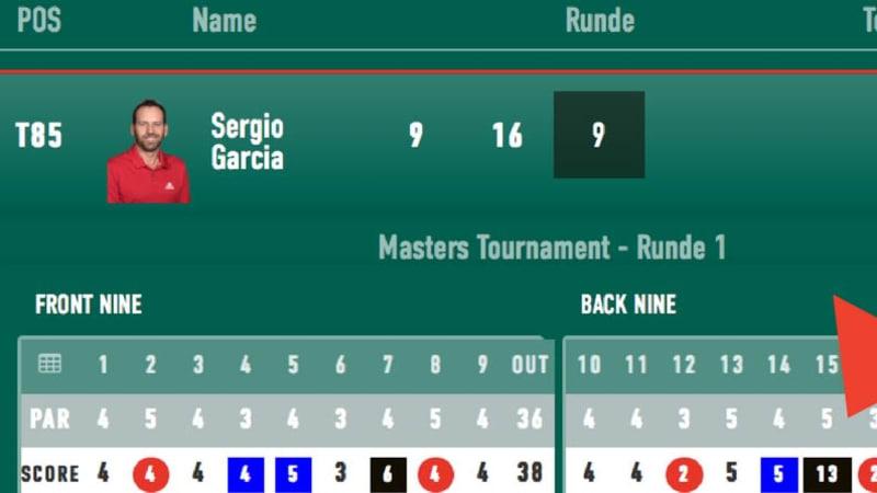 Sergi Garcia stellt zum Auftakt des US Masters 2018 einen traurigen Negativrekord auf. (Foto: Golf Post)