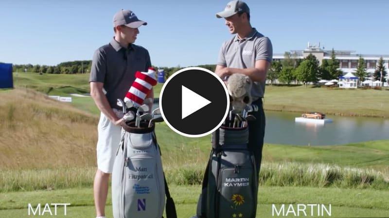 Matthew Fitzpatrick vs. Martin Kaymer in der 14 Club Challenge. (Foto: Youtube/European Tour)