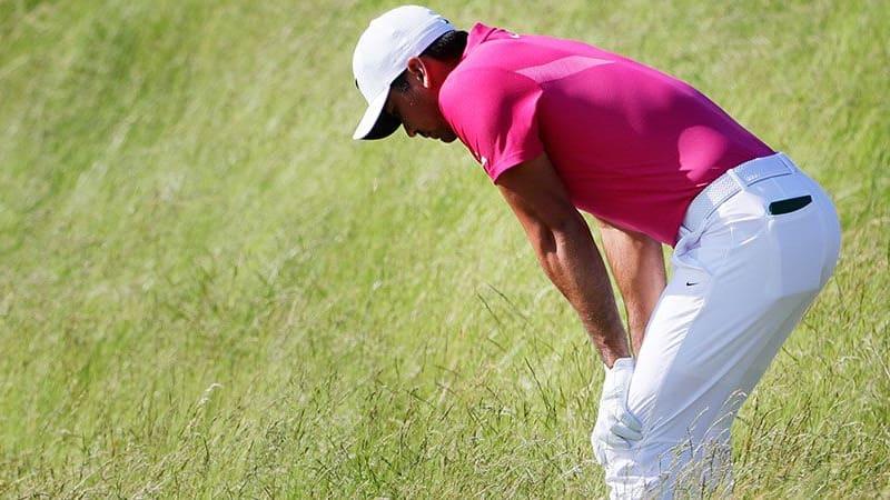Viele Golfer erleiden in ihrer Karriere Verletzungen am Rücken oder Rückenschmerzen. (Foto: Getty