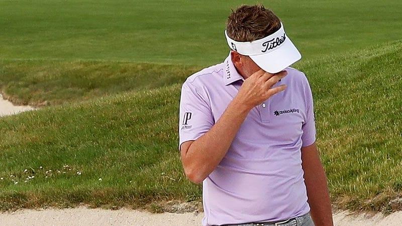 Ian Poulter kam dem Führenden bedrohlich nahe, ehe er auf der zweiten Runde der US Open 2018 einen fatalen Fehler beging. (Foto: Getty)