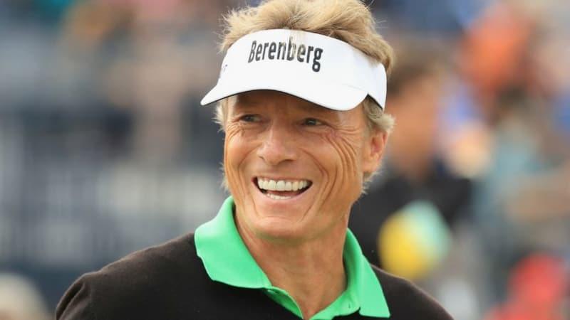 Bernhard Langer hat gut Lachen am Moving Day der Open Championship 2018. (Foto: Getty)