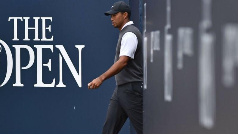 Tiger Woods ist bei der Open Championship 2018 gekommen um zu begeistern. (Foto: Getty)