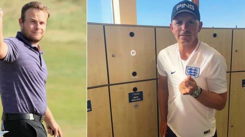 Tyrrell Hatton und Matt Wallace haben eines gemeinsam: Beide wollen England am Sonntag siegen sehen und auf der European Tour gewinnen. (Foto: Instagram/@tyrrellhatton und @mattwallacegolf)