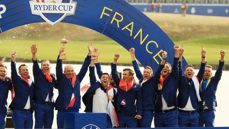 Ryder Cup 2018 Fotostrecke Finale Team Europa