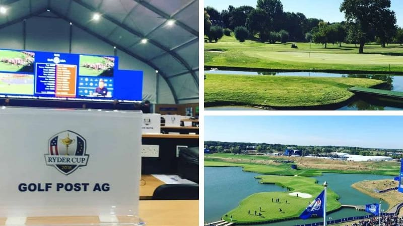 Golf Post Live vor Ort beim Ryder Cup 2018. (Foto: Golf Post)