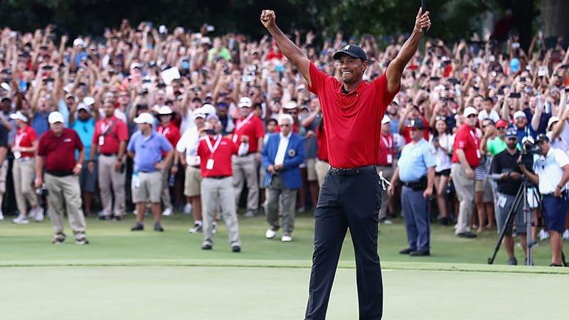 Tiger Woods gewinnt mit der Tour Championship seinen 80. Titel auf der PGA tour. (Foto: Getty)