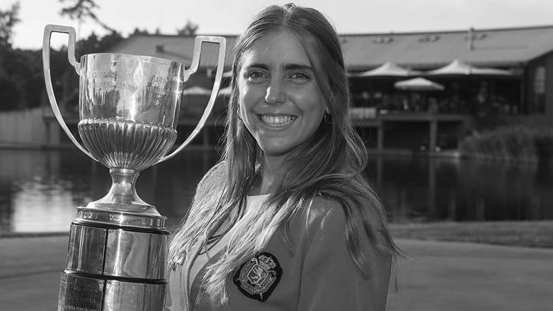 Celia Barquin starb aus bisher ungeklärter Ursache am 17. September. Sie wurde nur 22 Jahre alt. (Foto: Twitter.com/ega_golf)