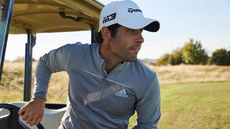 Die Adidas Go-To Adapt Golf-Jacke ist das neue Zugpferd des Sportartikelherstellers und ein echter Allrounder. (Foto: Adidas)