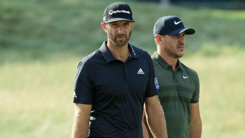 Eigentlich richtig gute Freunde, doch während des Ryder Cup gab es wohl ordentlich Stress zwischen Dustin Johnson und Brooks Koepka. (Foto: Getty)