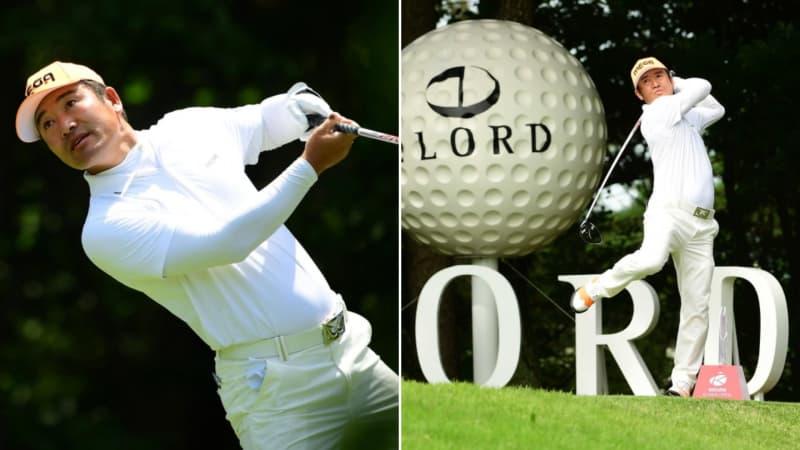 Außergewöhnlich, aber erfolgreich. Der Golfschwung von Hosung Choi. (Fotos: Twitter/@asiantourgolf)