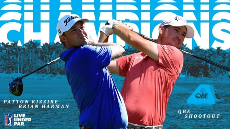 Patton Kizzire und Brian Harman gewinnen das QBE Shootout der PGA Tour. (Foto: Twitter.com/@PGATOUR)
