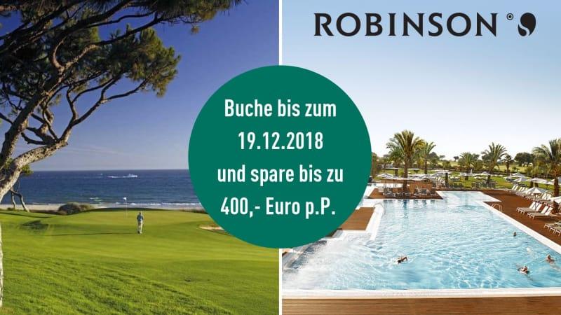 Sichern Sie sich noch bis zum 19.12.2018 den perfekten Golfurlaub in Portugal mit ROBINSON und sparen Sie bis zu 400,- Euro pro Person. (Foto: ROBINSON)