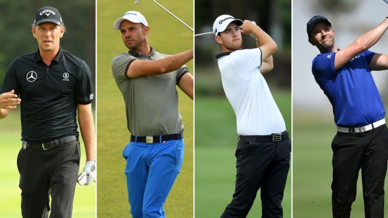 Marcel Siem, Bernd Ritthammer, Max Schmitt und Marcel Schneider sind in dieser Woche allesamt auf der European Tour am Start. (Fotos: Getty)