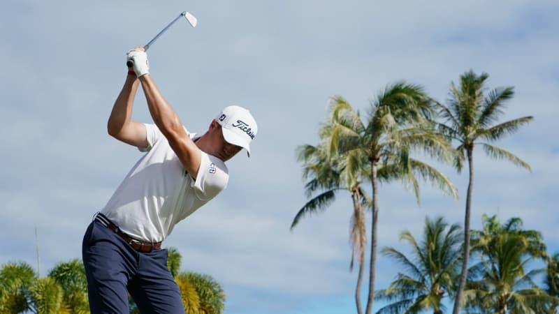 Justin Thomas glänzt mit zwei Eaglen bei der Sony Open der PGA Tour. (Foto: Getty