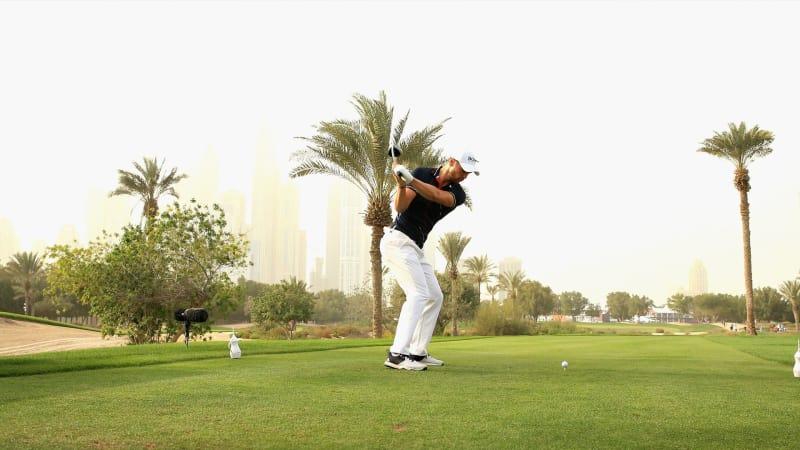 Martin Kaymer beim Start der ersten Runde der Omega Dubai Desert Classic auf der European Tour. (Foto: Getty)