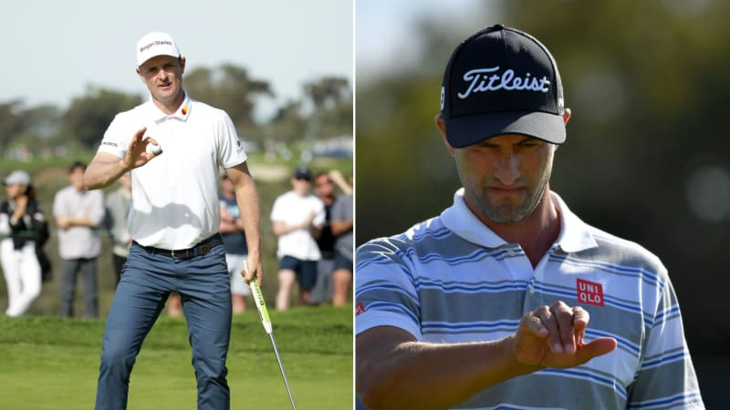 Justin Rose und Adam Scott bei der Farmers Insurance Open 2019. (Foto: Getty)