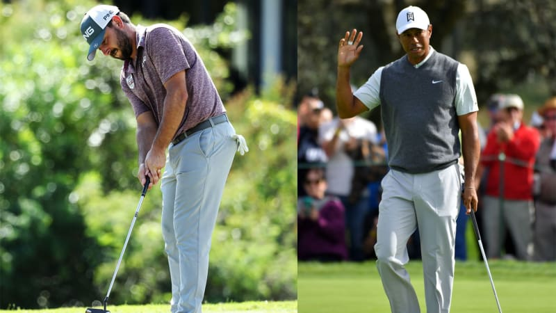 Stephan Jäger und Tiger Woods in der ersten Runde der Farmers Insurance Open. (Foto: Getty)