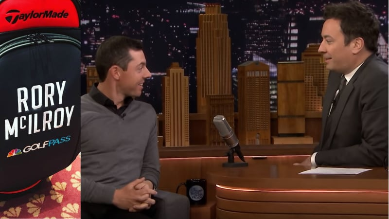 Rory McIlroy erklärt GamePass in der Tonight Show with Jimmy Fallon. (Fotos: Instagram.com/golfchannel und Youtube.com/latenight)