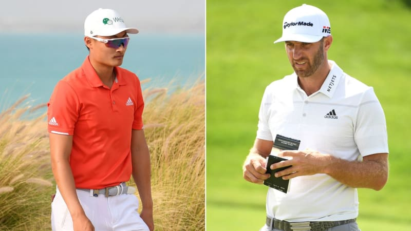 Haotong Li und Dustin Johnson gehen als Favoriten in das Finale der Saudi International auf der European Tour. (Foto: Getty)