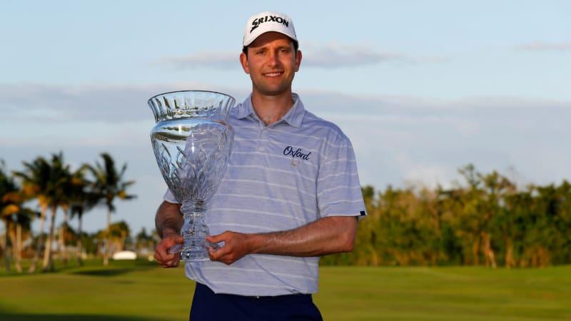 Martin Trainer nach seinem Sieg bei der Puerto Rico Open auf der PGA Tour. (Foto: Getty)