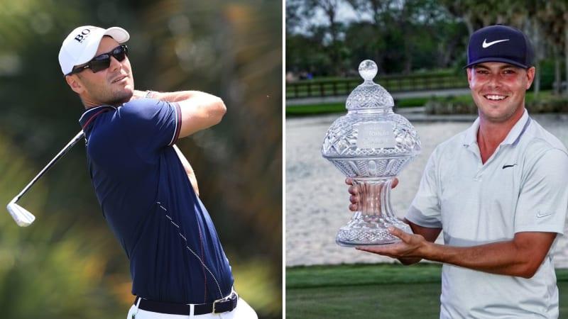 Keith Mitchell (re.) gewinnt sein erstes Turnier auf der PGA Tour, während Martin Kaymer am Finaltag Probleme hat. (Foto: Getty / @jacknicklaus)