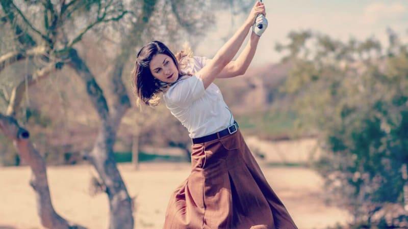 Sandra Gal erlebt Golf wie zur Anfangszeit der LPGA Tour. (Foto: Twitter.com/@TheSandraGal)