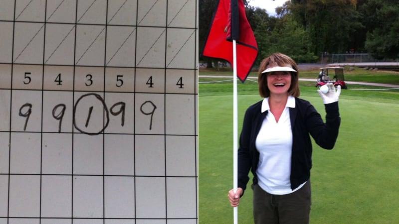 Paula Rich und ihre ungewöhnliche Scorekarte. (Foto: Twitter/@williamrrich)