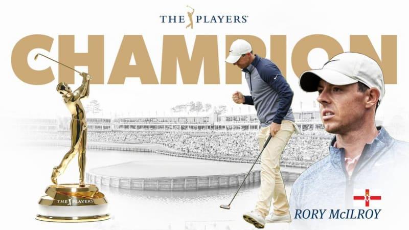 Rory McIlroy gewinnt zum ersten Mal in seiner Karriere die Players Championship. (Foto: Twitter/@PGATOUR)