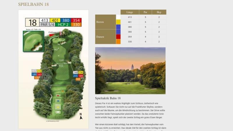 Passend zum Saisonstart könnt Ihr euch die einzelnen Spielbahnen online anschauen und euch nützliche Tipps und Hinweise einholen. (Bildquelle: Frankfurter GC)