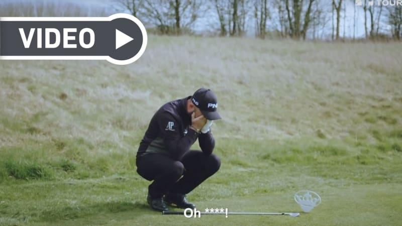 Andy Sullivan stellt sich der Hole-in-One Challenge (Foto: YouTube)