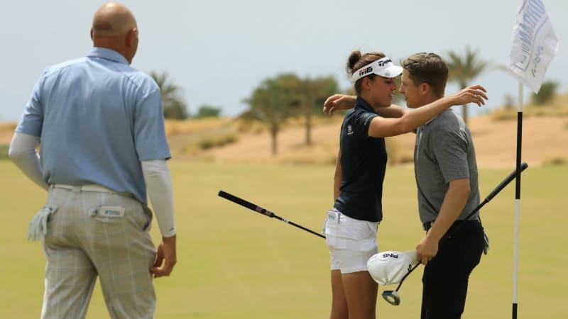 Meghan MacLaren teilt sich den zweiten Platz nach der ersten Runde der Jordan Mixed Open. (Foto: Getty)